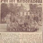 Rok 1960 - ústřižek z novin